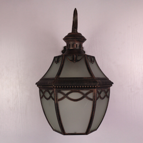 KnitBridge Collection Outdoor Light in Rustic Brown