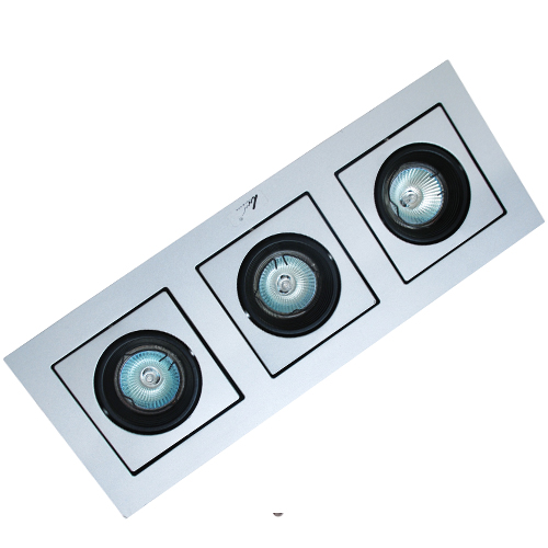 Triple Recessed Commercial Downlight