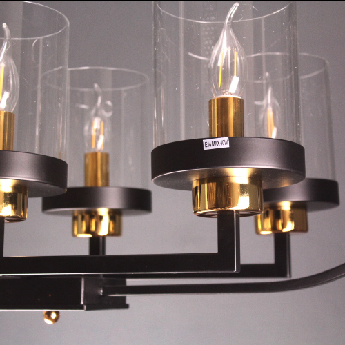 2517 Black And Gold Chandelier